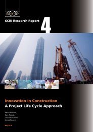 Innovation in Construction A Project Life Cycle Approach