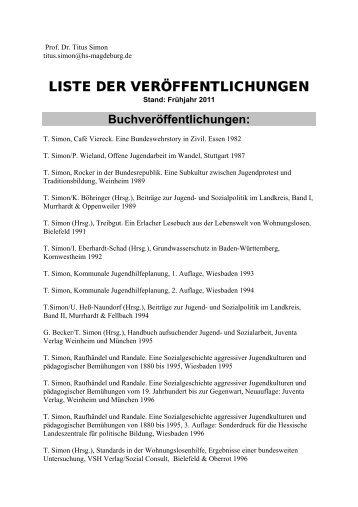 Buchveröffentlichungen - Hochschule Magdeburg-Stendal