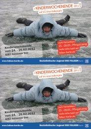 1.KINDERWOCHENENDE 1.KINDERWOCHENENDE - Falken Berlin