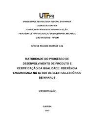 Roteiro para Apresentação de Dissertação no ... - PPGEM - UTFPR