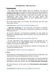 Prioritätenliste – Was ist zu tun - Hochschule Bremen