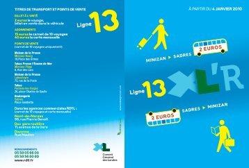 Ligne Ligne - Office intercommunal de Tourisme de Mimizan