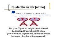 Presentation AStA - Hochschule Bremen
