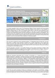 ISTAB BSc Curriculum - Hochschule Bremen