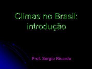 Introdução de Clima no Brasil