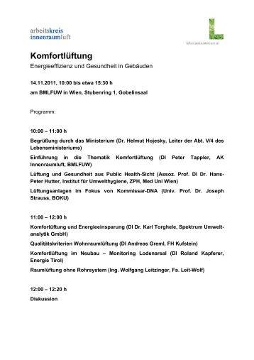 Programm Innenraumtag 2011 - raumluft.org » Mensch - Umwelt ...