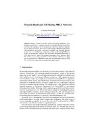 Dynamic Routing in Self-Healing MPLS Networks - (Distributed ...