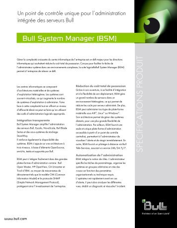 French version of Bull System Manager