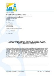 Comitato Consultivo Zonale - ASL n.3 Genovese