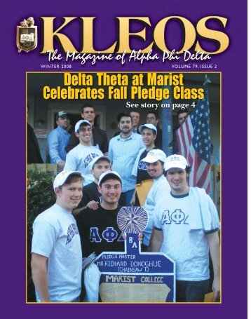 Kleos Winter 2008 - Alpha Phi Delta Foundation