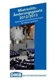 Mietrechts- Änderungsgesetz 2012/2013 - Deutscher Mieterbund