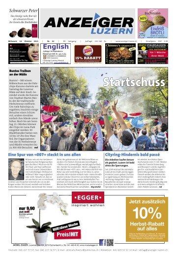 Anzeiger Luzern, Ausgabe 41, 10. Oktober 2012