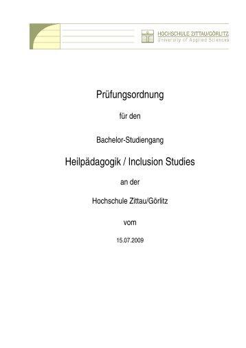 Diploma Supplement - Hochschule Zittau/Görlitz