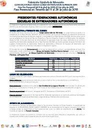 Más información y preinscripción - Federacion Española de ...