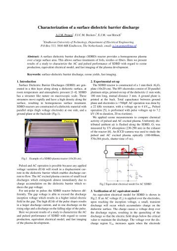 Characterization of a surface dielectric barrier discharge