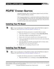 PCI/PXI Ethernet Adapters Installation Guide