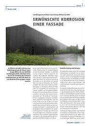 ERWÜNSCHTE KORROSION EINER FASSADE - Basler & Hofmann