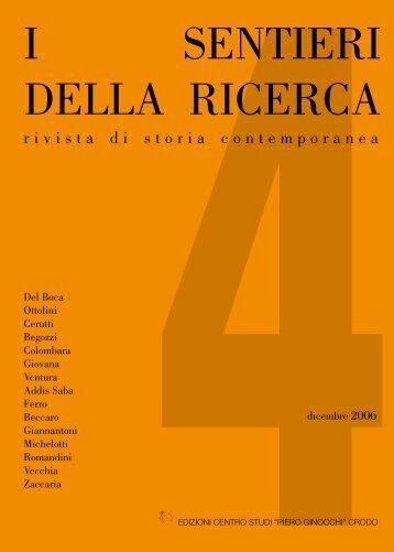 Sentieri della Ricerca 4.indb - Centro di Documentazione Del Boca ...