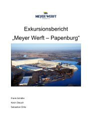 """Exkursionsbericht """"Meyer Werft – Papenburg"""""""