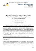Broadband and Improved Radiation Characteristics of Aperture ... - Page 7