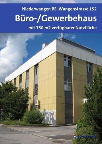 Verkauf: Gewerbe- Büroliegenschaft in Niederwangen mit 1400 m2