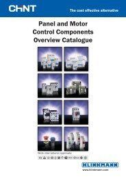 Panel and Motor Control Components Overview ... - Klinkmann.