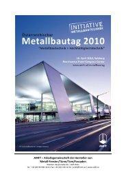 Handout Metallbautag 2010 - Aluminium Fenster Institut