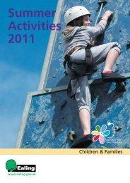 Summer Activities 2011 - Children's Centres