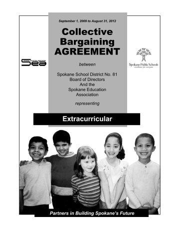 Collective Bargaining AGREEMENT - Spokane Public Schools