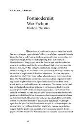Postmodernist War Fiction