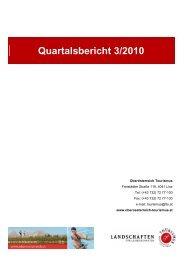 Quartalsbericht 3/2010 - Oberösterreich Tourismus