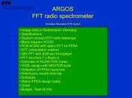 ARGOS FTT radio spectormeter - RadioNet