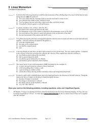 Worksheet: Concepts & Calculations
