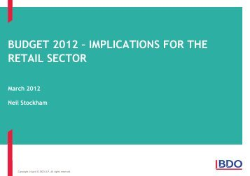BUDGET 2012 – IMPLICATIONS FOR RETAIL SECTOR ... - Uk.com