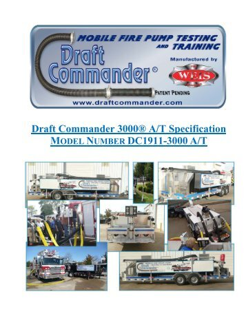 Why Draft Commander® 3000 A/T? - Weis Fire & Safety Equipment