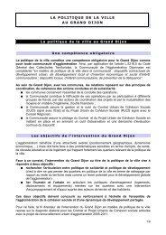 LA POLITIQUE DE LA VILLE AU GRAND DIJON - le Grand Dijon
