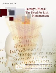 Family Offices: The Need for Risk Management - the Family Office ...