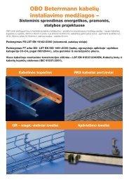 OBO Beterrmann kabelių instaliavimo medžiagos – - OBO Bettermann