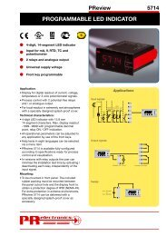 Programmable LED indicator PR 5714