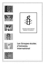 Comment créer un groupe école Amnesty - amnesty.be