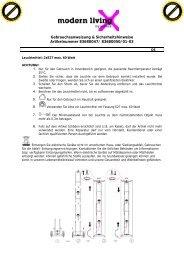 Gebrauchsanweisung & Sicherheitshinweise Artikelnummer ...