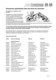 Entreprises spécialisées dans les freins de remorque