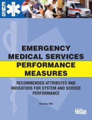 Emergency Medical Services Performance Measures ... - NHTSA EMS