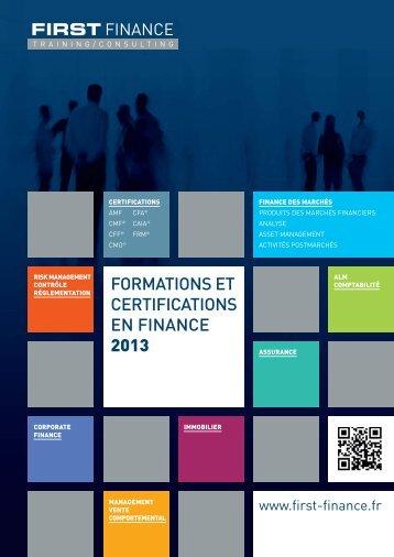 CATALOGUE 2013 - First Finance