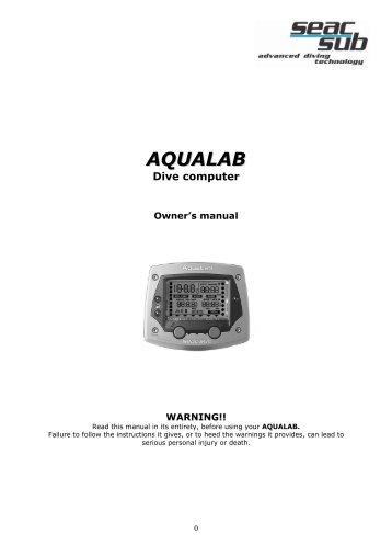 Aqualab english manual