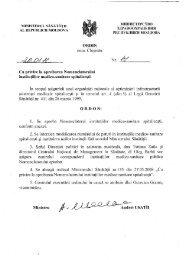 Ordin Nr. 41 din 20.01.2011 cu privire la aprobarea Nomenclatorului ...