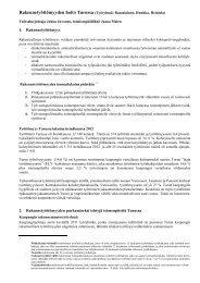 Liite Rakennetyöttömyyden hoito Turussa - Turku
