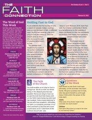February 21 - Malone Catholic Parishes