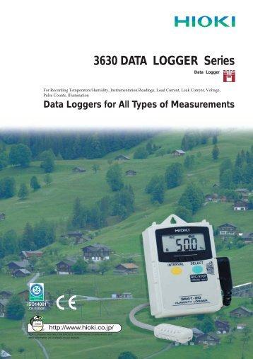 3630series DATA LOGGERs