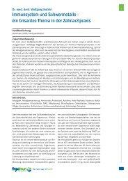 Immunsystem und Schwermetalle - ein brisantes Thema in der ...